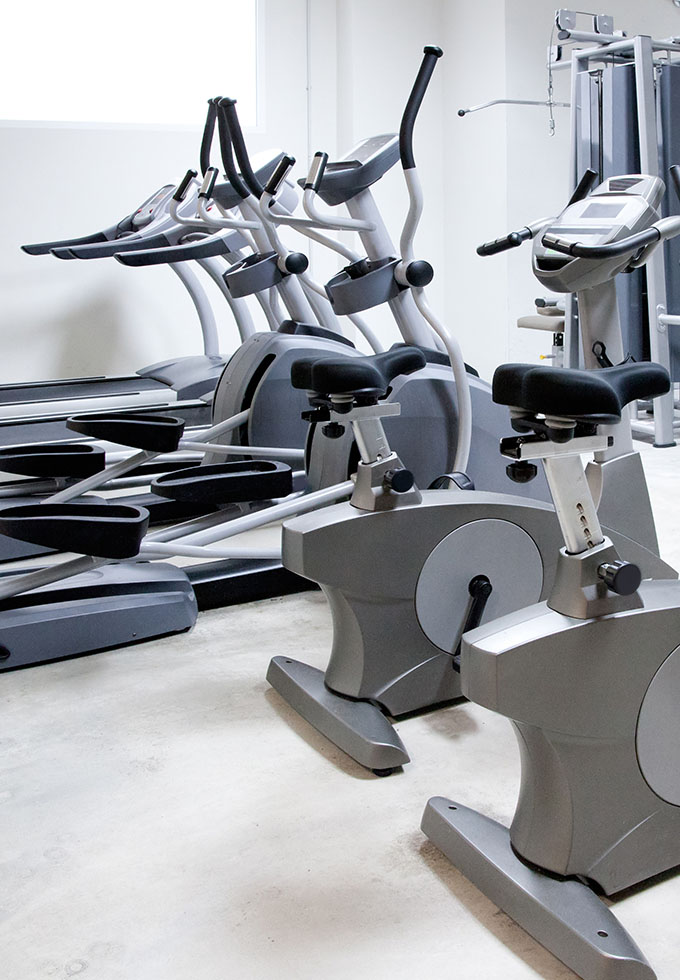 Gym ellipticals and bikes