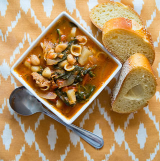 Escarole Soup with Spicy Sausage