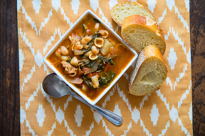 Sausage and Bean Soup with Escarole