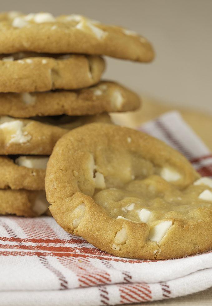 White chocolate macadamia nut cookies.