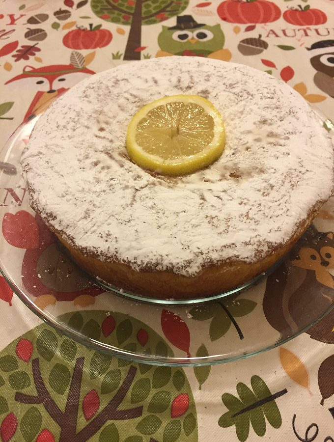 Delicious light and airy lemon ricotta cake.