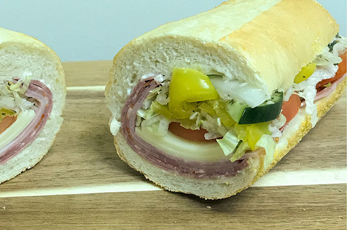 Delicious Spicy Italian Sandwich