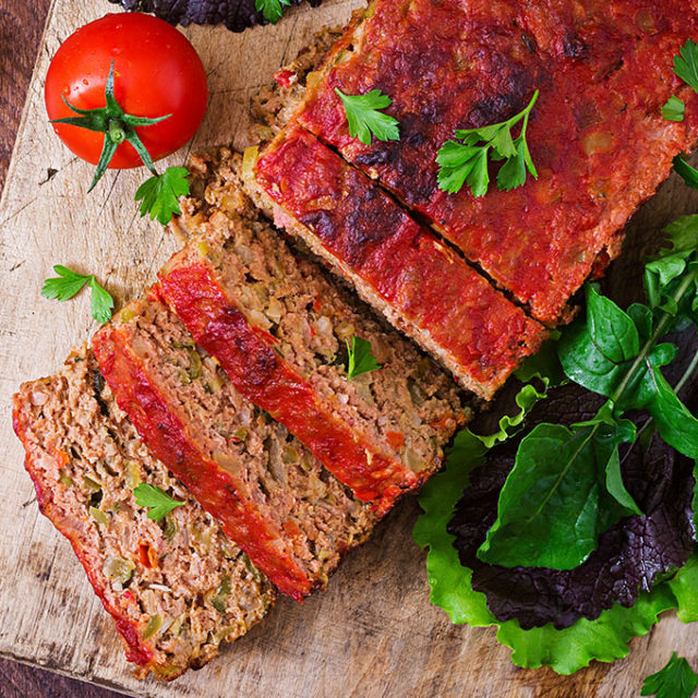 Delicious italian style meatloaf.