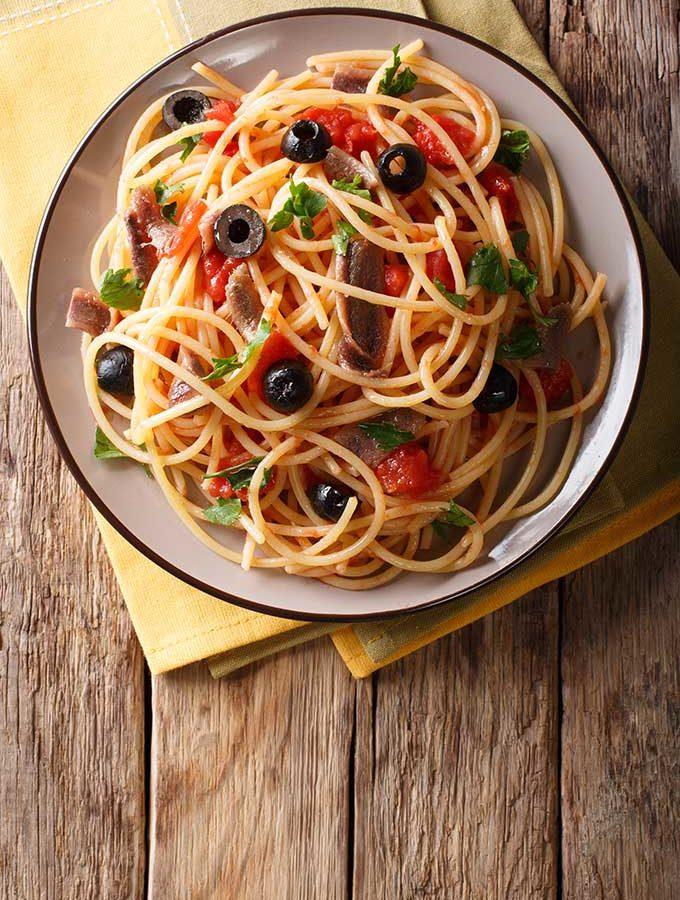 Spaghetti alla puttanesca.